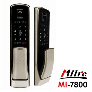 【Milre 美樂】MI-7800推拉式四合一密碼/指紋/卡片/鑰匙智能電子門鎖 香檳銀(附基本安裝)