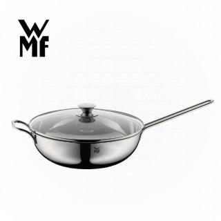 【WMF】不鏽鋼單手中式炒鍋 30cm(含蓋)