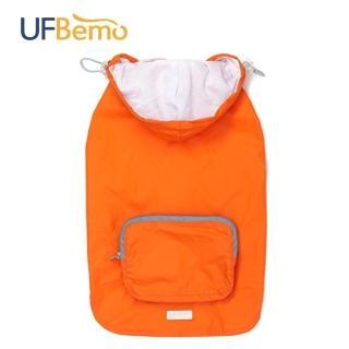 【UFBemo 優范寵物】寵物服裝防水防風可收納便攜短外套 說走就走(橘)