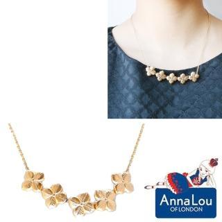 【Anna Lou Of London】倫敦品牌 優雅風信子hyacinth花朵金項鍊(絕版品 售完不補)