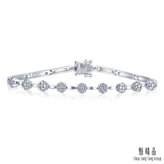 【點睛品】50分 閃爍小花 18K金鑽石手鍊