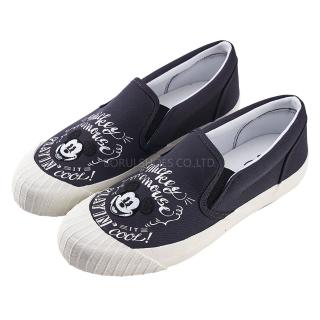【Disney 迪士尼】迪士尼親子鞋 米奇 經典帆布休閒餅乾鞋-黑(MIT台灣在地工廠製造)