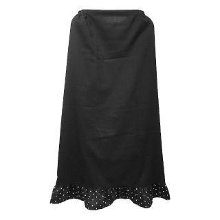 素色一片裙防曬裙MS508(黑色)