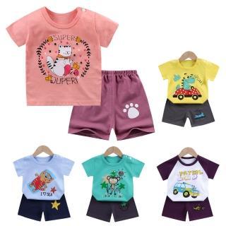 【Baby 童衣】兒童套裝純棉短袖短褲兩件套家居服 88330(共9色)