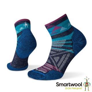 【SmartWool】女PhD戶外輕量印花短筒襪(深海軍藍)