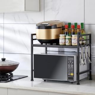 【YOIMONO LIVING】「工業風尚」伸縮微波爐架(單層)