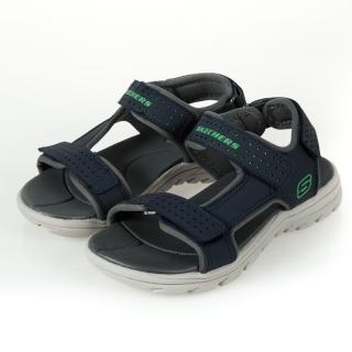 【SKECHERS】男童系列 涼鞋 SUPREME(92223LNVY)