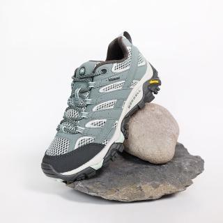 【MERRELL】戶外鞋 Moab 2 GTX 運動 女鞋 登山 越野 耐磨 黃金大底 防潑水 穩定 綠 米(ML033468)