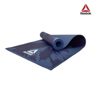 【REEBOK】防滑波紋瑜珈墊-筆刷藍(4mm)