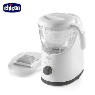 【Chicco】多功能食物調理機+奶瓶食器清潔劑300ml*2+寶寶純棉口水巾