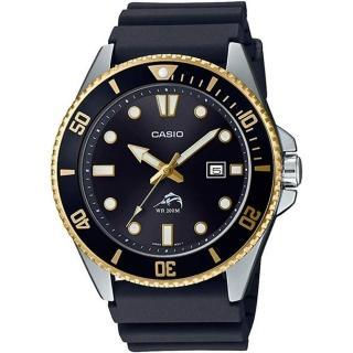 【CASIO 卡西歐】槍魚類勞力士黑水鬼200米潛水錶(MDV-106G-1A)