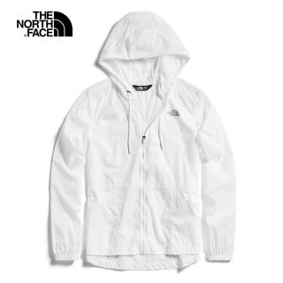 【The North Face】The North Face北面女款白色連帽風衣外套|3V4IFN4