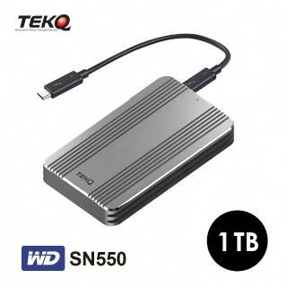 【TEKQ】Rapide WD SN550_1T Thunderbolt 3 PCIe Gen3X4 外接式 SSD 行動固態硬碟(讀:2200M/寫:1700M)