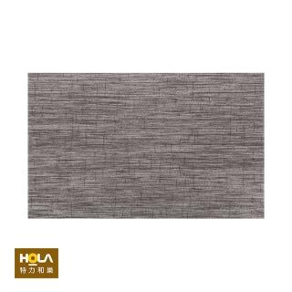 【HOLA】特斯勒時尚編織踏墊50x80cm灰棕