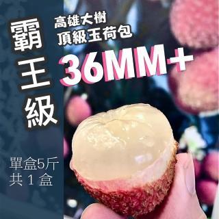 【老張果物】霸王級36MM+大樹玉荷包(去枝葉 5斤禮盒 共1盒裝 限水限量!賣完為止!)
