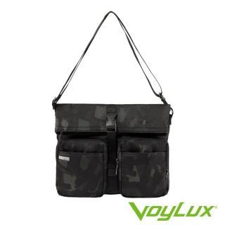 【VoyLux 伯勒仕】Camo迷彩系列雙口袋斜背包-3280475(多層空間收納方便)