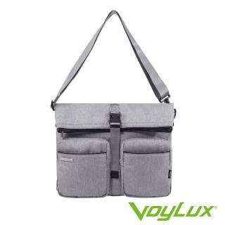【VoyLux 伯勒仕】VoyLux 伯勒仕- 極簡系列雙口袋斜背包35855XX(多層空間收納方便)