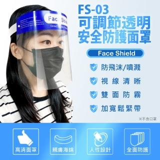 【IS】FS-03可調節透明安全防護面罩(防疫專用)