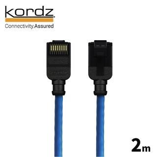 【kordz】PRO CAT6 28AWG極細高速網路線(藍色2米)