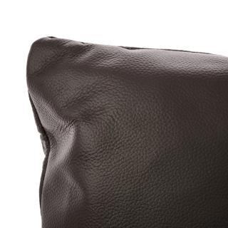 【HOLA】KUKA全牛皮抱枕45x45cm 深褐色