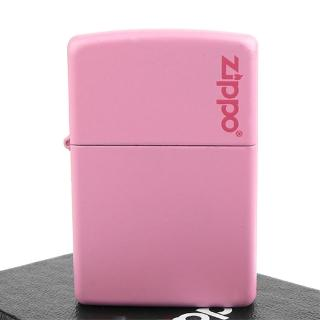 【Zippo】美系-LOGO字樣打火機-Pink Matte粉紅烤漆