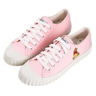 【Disney 迪士尼】迪士尼親子鞋 小熊維尼  造型帆布休閒鞋-粉(MIT台灣在地工廠製造)