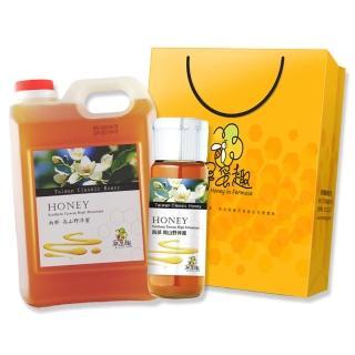 【尋蜜趣】台灣國產野淬蜂蜜禮盒組(1800gx1+420gx1)