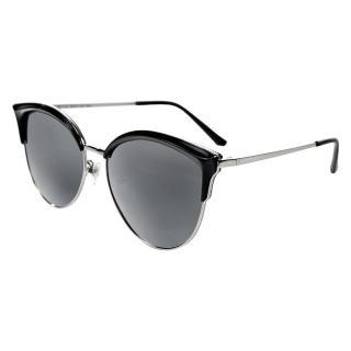 【Turoshio】TR90 偏光太陽眼鏡 貓眼混框 午夜黑 K1803 C1C(偏光太陽眼鏡)