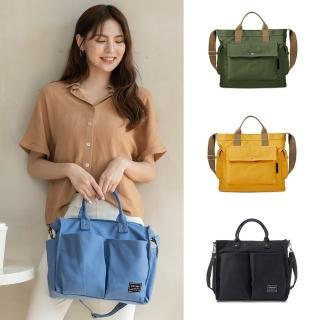 【Kiiwi O!】日系簡約系列兩用帆布包 BLANCHE(手提包/托特包/斜背包)