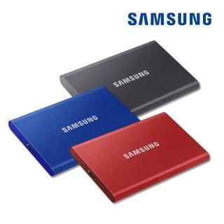 【SAMSUNG 三星】SAMSUNG 三星T7 500G USB 3.2 Gen 2移動固態硬碟 深空灰 MU-PC500T/WW(MU-PC500T/WW)