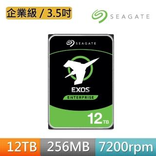 【SEAGATE 希捷】企業級 氦氣碟 12TB 3.5吋SATAⅢ 加密硬碟(ST12000NM001G)