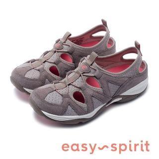【Easy Spirit】seEARTHEN 多彩多色 後跟鏤空撞色涼休閒鞋  女鞋(深杏)