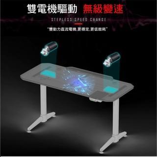 【CHAMPION】Z1S 專業高規智能升降電競升降/電競賽事遊戲桌/電競桌/主播桌(多項國際認證/滿版滑鼠墊+杯架)