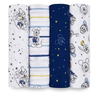 【aden+anais】迪士尼經典款包巾四入 - 四款可選(萬用包巾/哺乳巾/推車毯/推巾蓋巾)