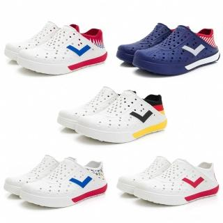 【PONY】ENJOY 水鞋 國旗 世界加油 透氣 洞洞鞋 雨鞋 懶人鞋 涼鞋 反光LOGO 可踩 男女(02U1SA0-)