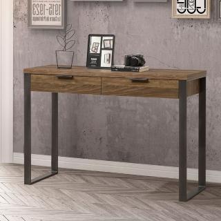 【AT HOME】現代鄉村3.9尺胡桃色二抽收納玄關桌/展示桌(雅博德)