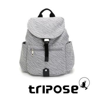 【tripose】ARTFRICA緹花布後背包-大(斑馬灰)