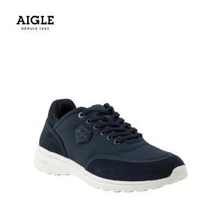 【AIGLE】女 輕量透氣休閒鞋(AG-FT096 深藍)