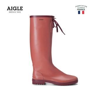 【AIGLE】女 易收納橡膠長靴(AG-F8419 蜜桃紅)