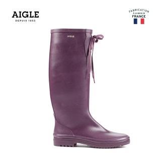【AIGLE】女 易收納橡膠長靴(AG-F8419 紫色)