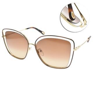 【Chloe' 蔻依】太陽眼鏡大方框款(琥珀棕金-漸層棕#CE133S 213)