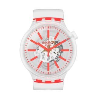【SWATCH】BIG BOLD系列手錶 ORANGINJELLY 暖心橘(47mm)