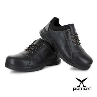 【PAMAX 帕瑪斯】超彈力氣墊高抓地力安全鞋/寬楦鋼頭/銀纖維除臭抗菌(PS07101FEH黑 /男女)