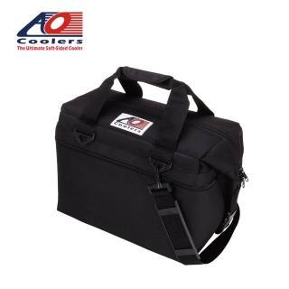 【AO COOLERS】酷冷軟式輕量保冷托特包-24罐型 -經典帆布CANVAS系列 經典黑(保冷袋)