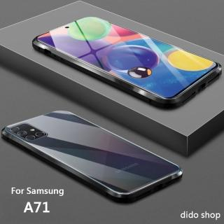 【Didoshop】三星 A71 雙面鋼化玻璃磁吸式手機殼 手機保護殼(WK054)