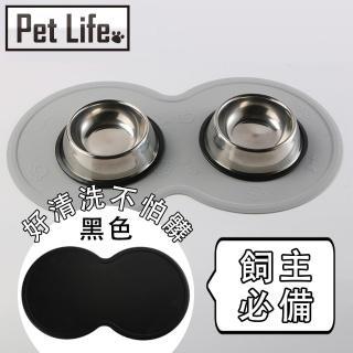 【Pet Life】貓狗寵物專用防滑防水進食矽膠餐墊