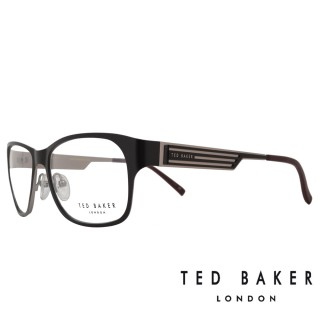 【TED BAKER】倫敦玩酷金屬風格造型眼鏡(TB4189-001 黑/銀)
