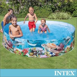 【INTEX】免充氣幼童戲水游泳池244x46cm_2040L_適用3歲+(58472)/