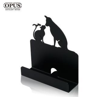 【OPUS 東齊金工】歐式鐵藝名片座/高級名片架/會展用品/金屬商務名片盒(CA-do06B 寵愛_經典黑)