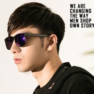 【OT SHOP】太陽眼鏡 墨鏡 復古方細框水銀鏡感 M07(抗UV400 MIT台灣製 中性情侶款)